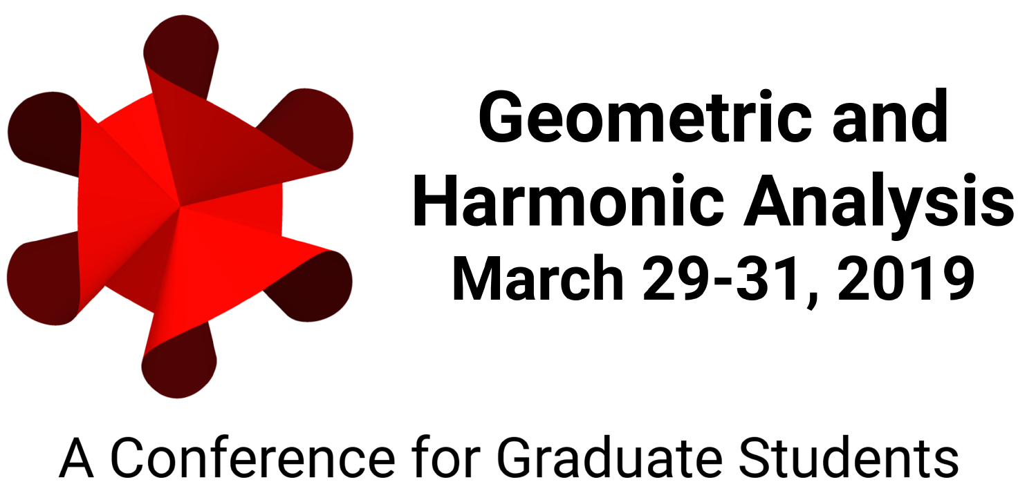 Geometric and Harmonic Analysis; March 28-30, 2019